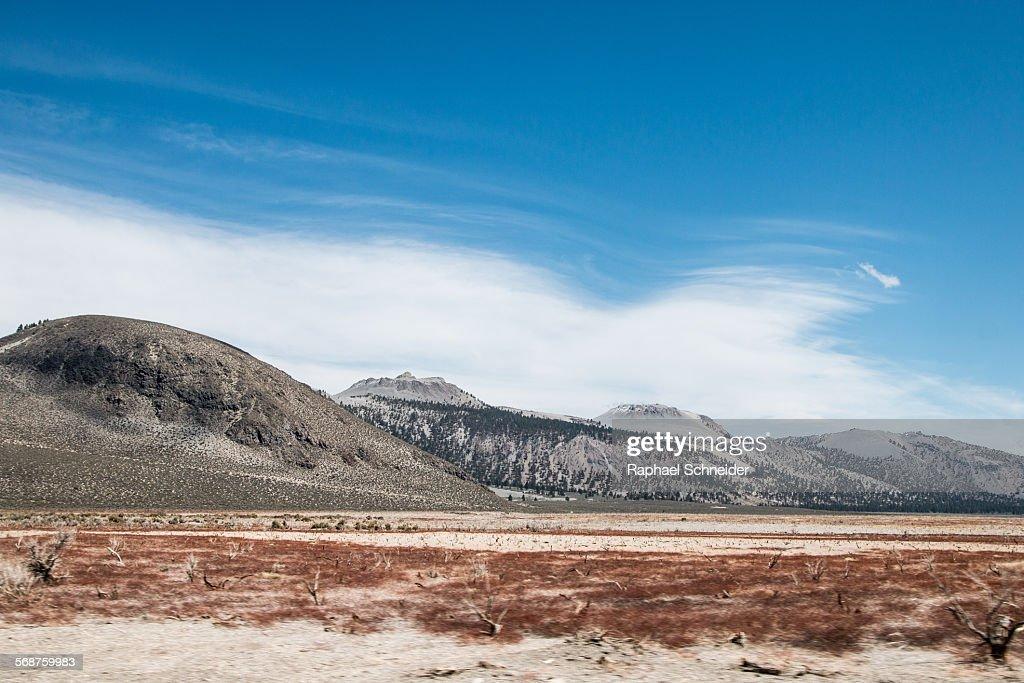 Volcanic craters close to Mono Lake, California : Stock Photo