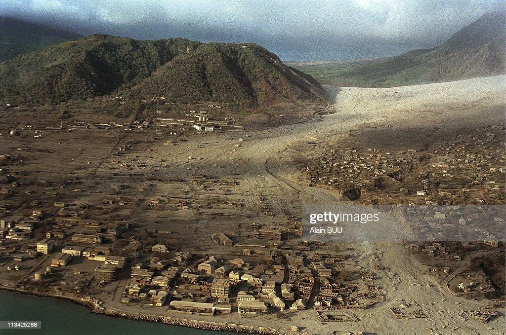 Volcanic Eruption In Montserrat Island On August 7th, 1997. In Antigua,Barbuda : News Photo