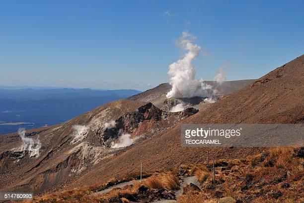 Volcanic eruption on Mount Ruapehu