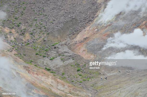 volcanic hiking - stratovolcano stock photos and pictures