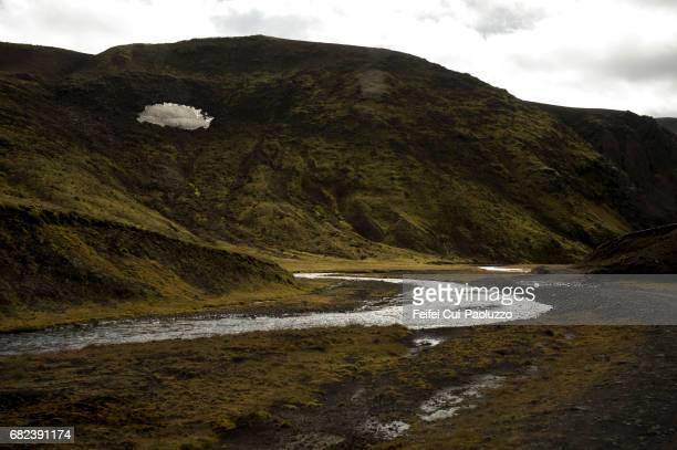 Volcanic landscape at Landmannalaugar area, in Highlands of Iceland