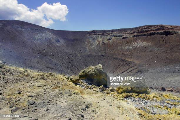 Volcanic landscape at the Great Crater of Vulcano Island