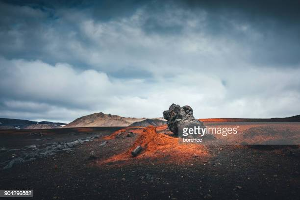 volcanic landscape in iceland - lava stock pictures, royalty-free photos & images