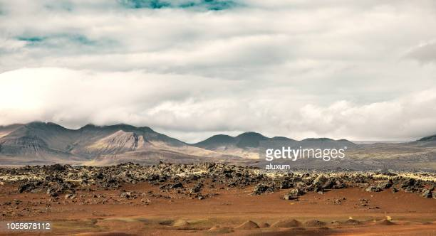 volcanic landscape in snaefellsnes iceland - extreme terrain stock pictures, royalty-free photos & images