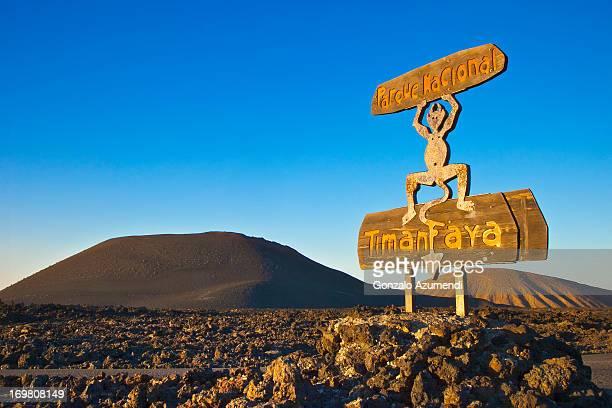 volcanic landscape in timanfaya natinal park. - timanfaya national park stock pictures, royalty-free photos & images