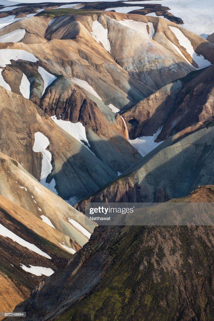 Volcanic landscape Landmannalaugar Mountain Iceland : Stock Photo