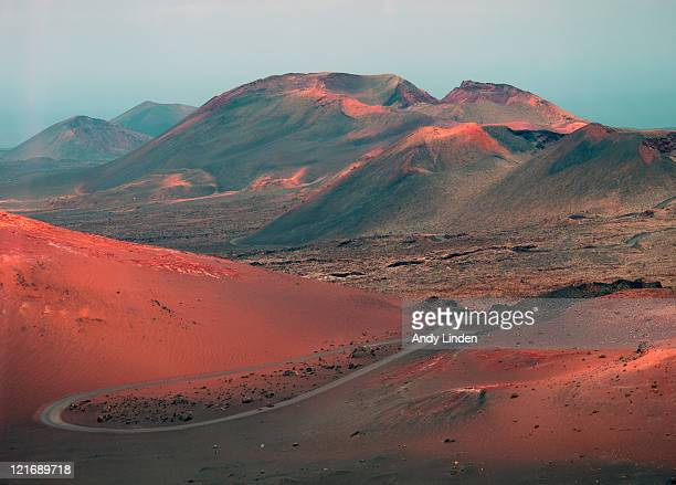 volcanic landscape of timanfaya volcano park - lanzarote stock pictures, royalty-free photos & images