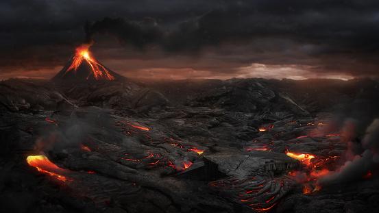Volcanic landscape 515005712