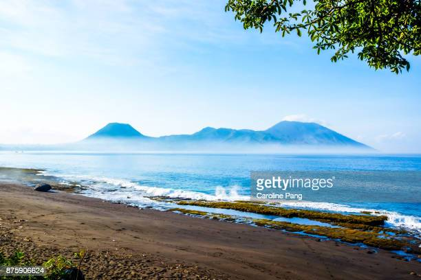 Volcanic mountain range in the south central of Ende on the island of Flores in Indonesia.
