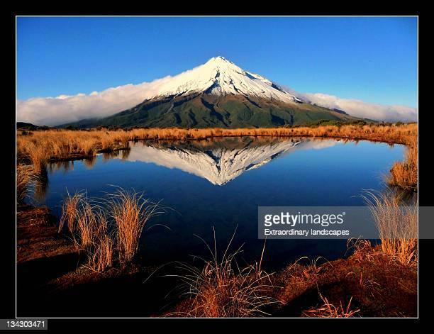 Volcanic reflections at Mt Taranaki