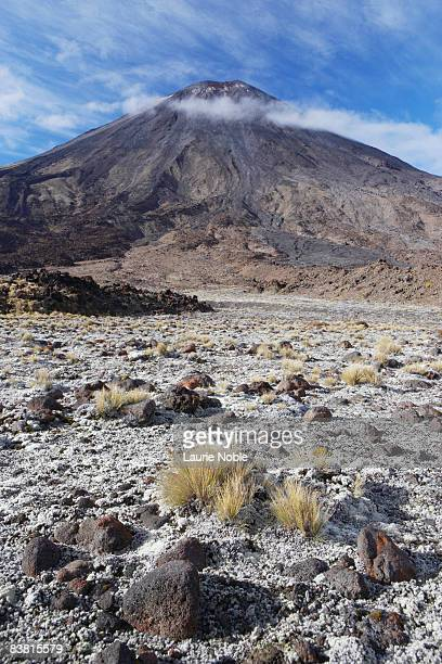 Volcanic rocks, Mt Ngauruhoe in Tongariro Crossing