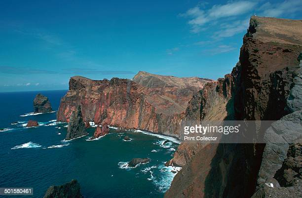 Volcanic seacliffs at Ponto Do San Lourenco on the southeast coast of Madeira