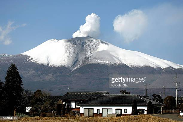 Volcanic smoke from Mt Asama is seen on February 2 2009 in Karuizawa Nagano Japan The active volcano erupted early Monday for the first time since...