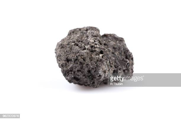 volcanic stones on a white background - etna, italy - pore stock pictures, royalty-free photos & images