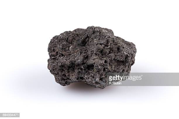 Volcanic stones on a white