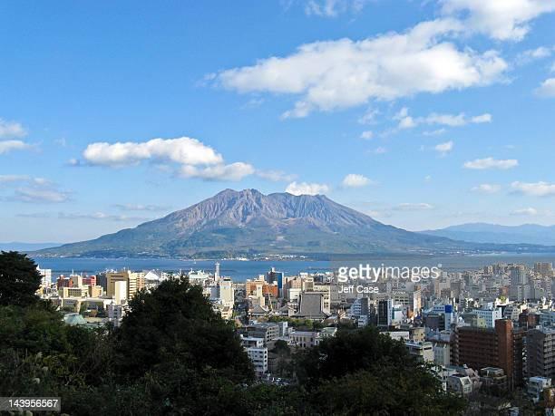 Volcano and city