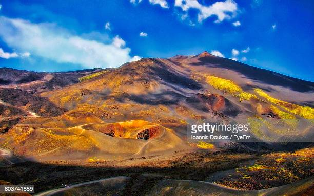 volcano at mount etna - mt etna stock pictures, royalty-free photos & images