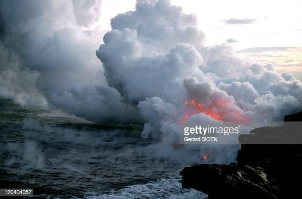 Volcano erupting in Hawaii, United States - Underwater volcano erupting in the Hawaiian archipelago..