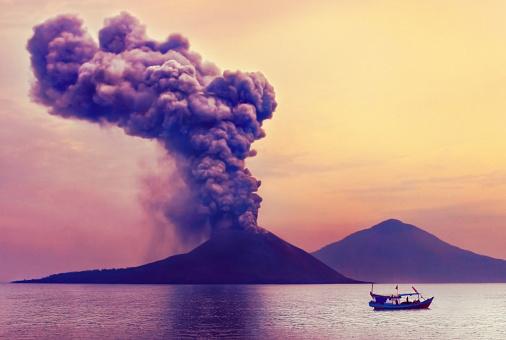 Volcano eruption. Anak Krakatau, Indonesia 514933722