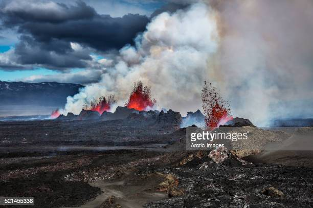 Volcano Eruption at the Holuhraun Fissure near Bardarbunga Volcano, Iceland