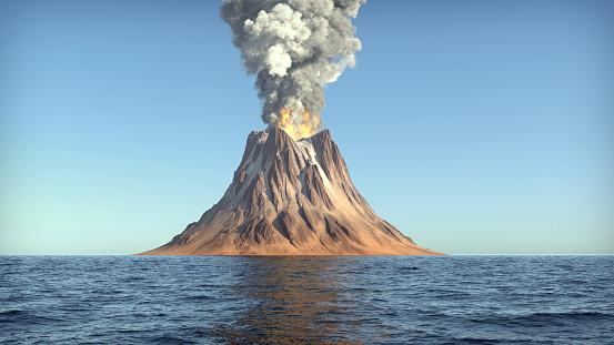 Volcano eruption 1128223299