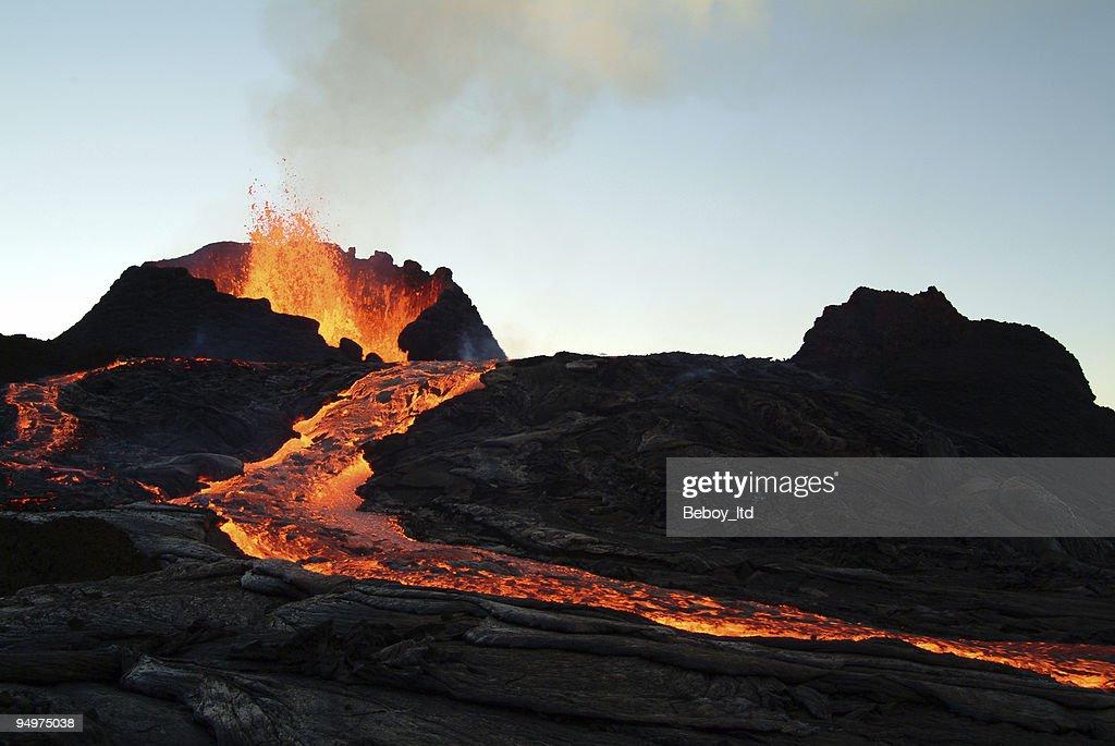 volcano eruption : Stock Photo