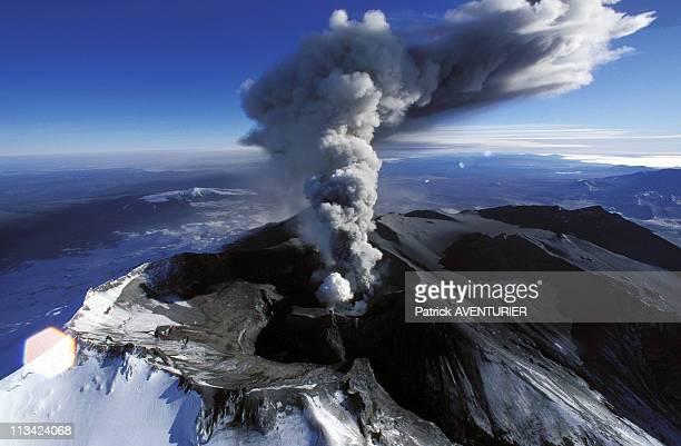 Volcano Eruption Ruapehu On June 1st 1996 In New Zealand