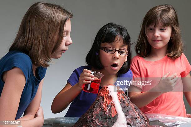 volcano experiment - volcano stock pictures, royalty-free photos & images