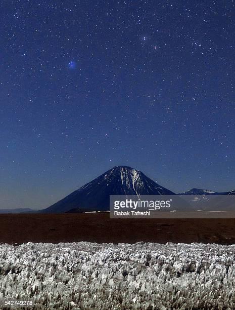 Volcano in Moonlight