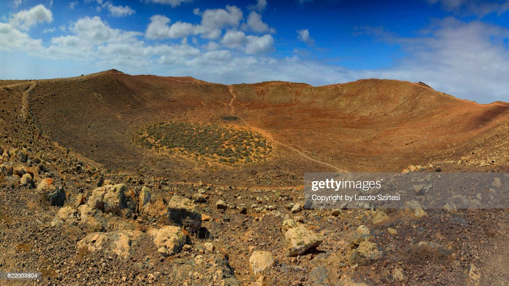 Volcano Montana Roja : Stock Photo