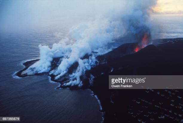 volcano on Heimaey Island, Iceland
