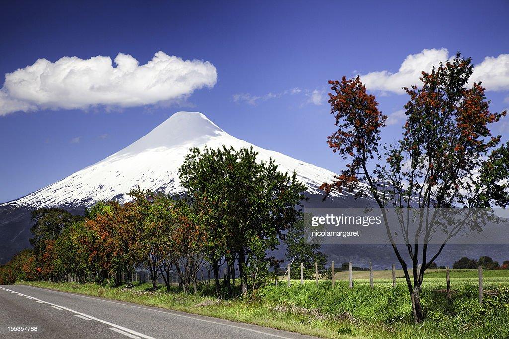 Volcano Osorno in the Chilean Lake District. : Stock Photo
