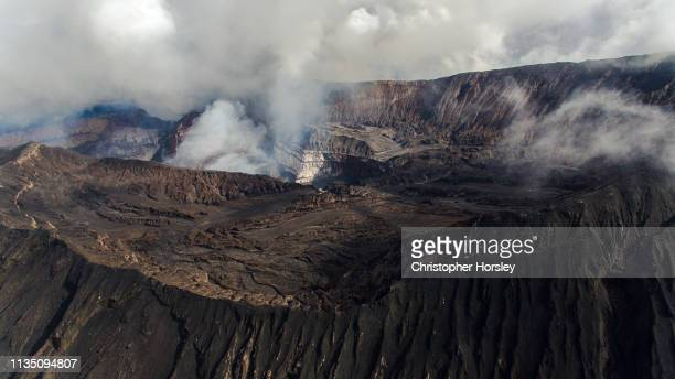 volcano panoramas - marum, vanuatu - active volcano stock pictures, royalty-free photos & images