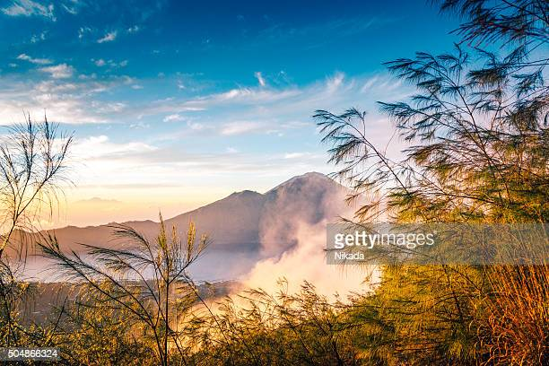 Volcano scenery at sunrise, Bali
