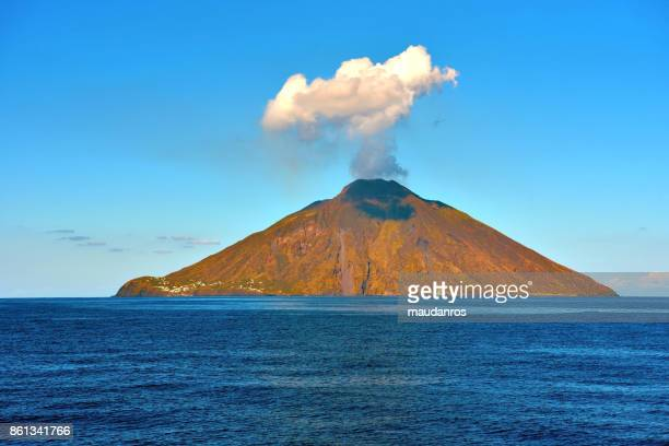 volcano stromboli - aeolian islands stock pictures, royalty-free photos & images