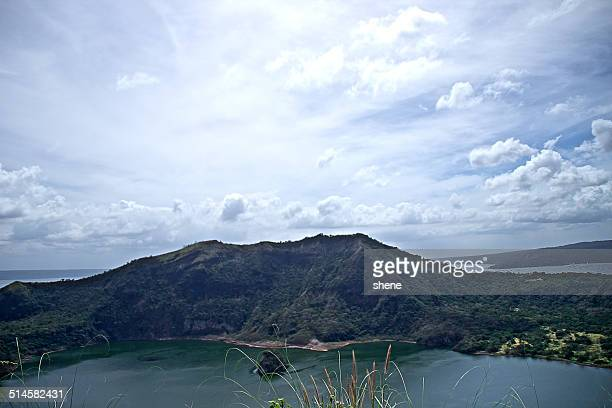 volcano taal, philippines - taal volcano stock photos and pictures
