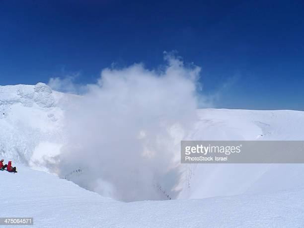 volcano villarrica - pucon fotografías e imágenes de stock