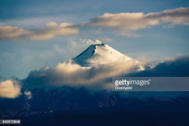 volcano villarrica, pucon, chile. - villarrica stock photos and pictures