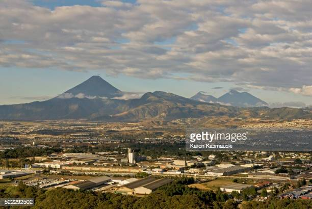 Volcanoes and Guatemala City