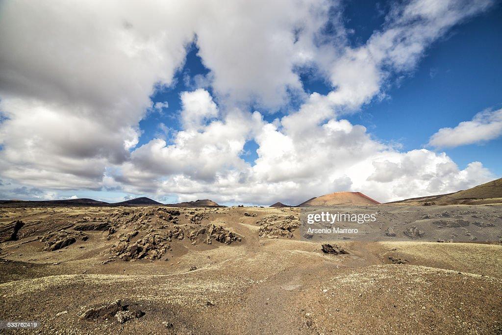 Volcanoes in Lanzarote island : Foto stock