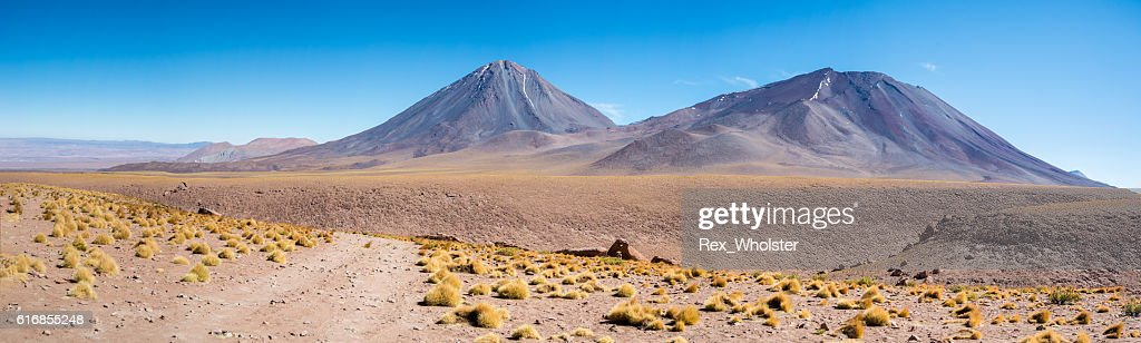 Volcanoes in the Andes Range : Stock Photo