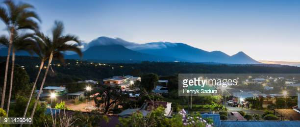 volcanoes of cerro verde national park - san salvador stock pictures, royalty-free photos & images