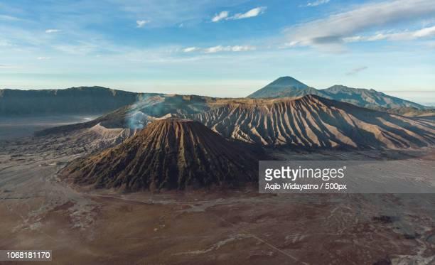 Volcanos on mountain area