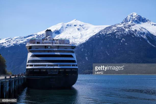 MS Volendam docked at Skagway,Alaska