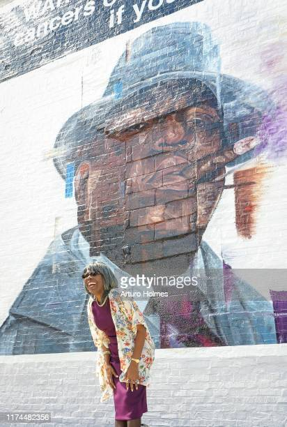 Voletta Wallace attends the art installation part of celebration for the 25th anniversary of The Notorious BIG's Ready to Die Album presented by...