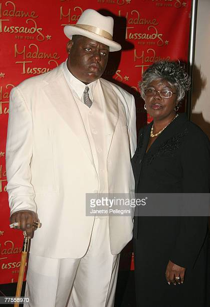Voletta Wallace attends the unveiling of her son the Notorious BIGs wax figure at Madame Tussauds October 25 2007 in New York City