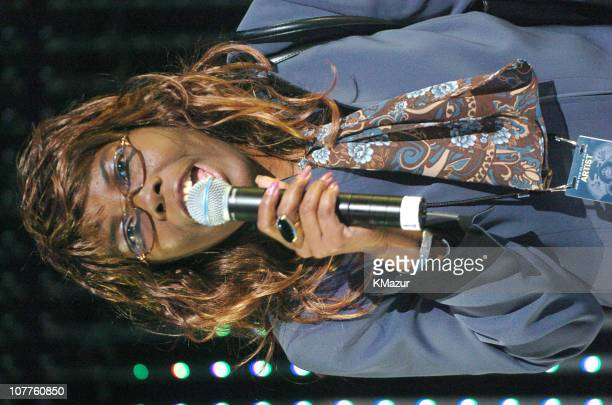 Voletta Wallace mother of Notorious BIG during JayZ The Black Album Tour Live at Madison Square Garden Show at Madison Square Garden in New York City...
