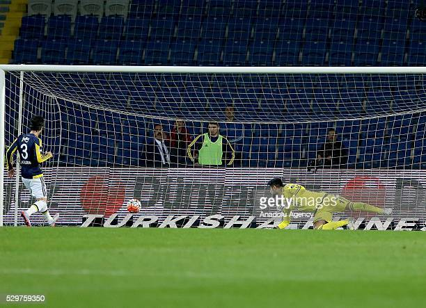 Volkan Demirel of Fenerbahce concedes the second goal during the Turkish Spor Toto Super Lig football match between Medipol Basaksehir and Fenerbahce...
