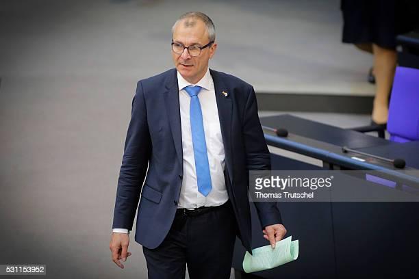 Volker Beck Member of German Bundestag Buendnis90/ Die Gruenen arrives at Bundestag on May 13 2016 in Berlin Germany
