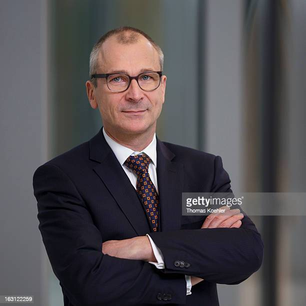 Volker Beck Member of German Greens Party poses for a photograph on February 26 2013 in Berlin Germany